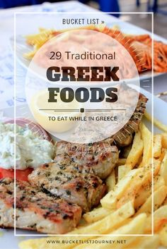 food 29 Traditional Greek Foods You Must Eat in Greece With dishes like moussaka and tzatziki traditional Greek food is some of the best cuisine in the world. These popular foods in Greece are simply delicious. Moussaka, Mykonos, Santorini, Chicken Tikka Masala Rezept, Healthy Eating Tips, Healthy Recipes, Healthy Food, Healthy Nutrition, Drink Recipes