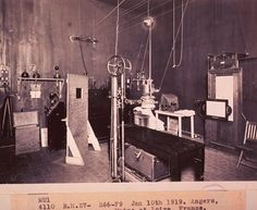 X-ray room, 1919. National Library of Medicine.
