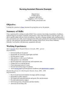 Certified Nursing Assistant Resume Examples Nurse Resumes  Nurse Resume Sample New Grad Nursing Resume .