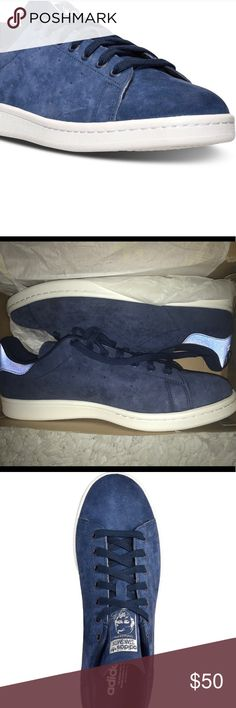 Stan Smith Adidas Blue Suede tennis. Brand new, still in box Stan Smith Blue Suede, white sole men's shoe. adidas Shoes Sneakers