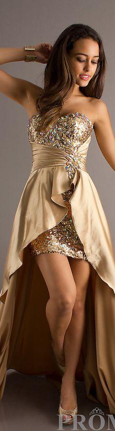 Formal long dress #gold #glitter #strapless