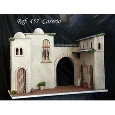 Caserío Christmas Nativity, Miniature Houses, Ideas Para, Miniatures, Mansions, House Styles, Videos, Craftsman Deck Boxes, Daycares