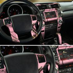 Pink Camo Dash Skin, made with Mossy Oak