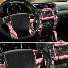 Pink Camo Dash Skin, made with Mossy Oak
