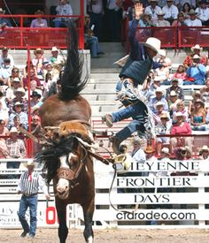 Best Rodeo on the Planet! Frontier Days in Cheyenne, Wyoming.
