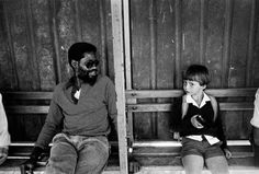 """""""Waiting for the bus during the times of Apartheid"""" by Paul Weinberg, 1986"""