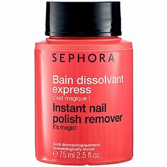I'm learning all about SEPHORA COLLECTION Instant Nail Polish Remover 2.5 oz at @Influenster!