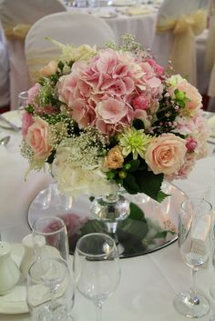 A Traditional Church Wedding In Shades of Pink