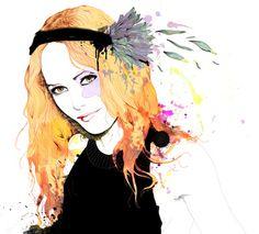 Vanessa paradis Art Print