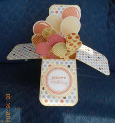 Card in a Box - Balloons by Donna