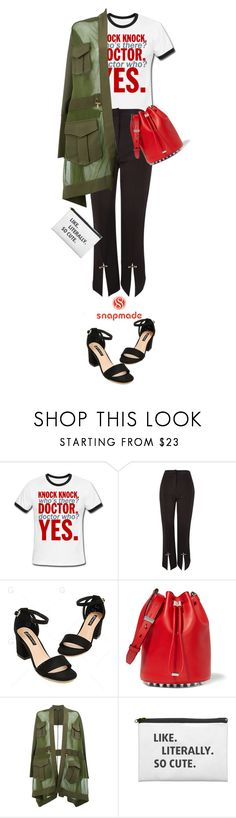 """snapemade"" by live-ska ❤ liked on Polyvore featuring Topshop, Alexander Wang and Balmain"