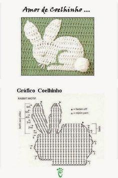 Mesmerizing Crochet an Amigurumi Rabbit Ideas. Lovely Crochet an Amigurumi Rabbit Ideas. Filet Crochet, Crochet Diagram, Crochet Chart, Crochet Motif, Crochet Doilies, Crochet Flowers, Crochet Stitches, Knit Crochet, Crochet Patterns