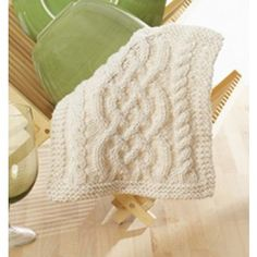 Mary Maxim - Free Celtic Cables Dishcloth Pattern - Free Patterns - Patterns & Books