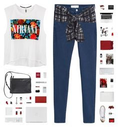 """MAYBE TOMORROW"" by c-hristinep ❤ liked on Polyvore featuring MANGO, 3.1 Phillip Lim, Converse, NARS Cosmetics, Maria La Rosa, OXO, Surya, Yves Saint Laurent, 3LAB and Fishs Eddy"
