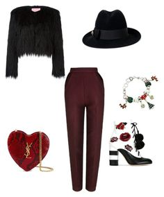 """""""Untitled #4"""" by anca-gabriela-1 on Polyvore featuring GEDEBE, Yves Saint Laurent, The 2nd Skin Co. and Gucci"""