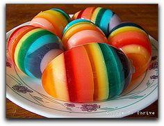 layered jello eggs