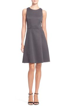 Theory 'Trekana' Jacquard Stretch Wool Fit & Flare Dress available at #Nordstrom