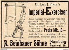 Werbung - Original-Werbung/ Anzeige 1902 - DR. PHELAN'S IMPERIAL EXERCISER / BEINHAUER - HAMBURG- ca. 90 x 60 mm