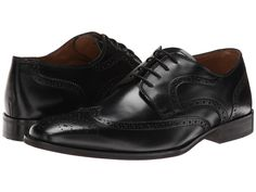 593c8bd2733 Florsheim - Sabato Wing Ox (Black) Men s Lace Up Wing Tip Shoes