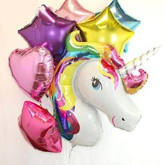 unicorn balloon bouquet  birthday party first birthday, 1st birthday party ideas, kids party, girl party