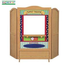 "Recalled. Guidecraft Children's Play Theaters. 4-in-1 Dramatic Play Theater Toys. ""The toy has two interchangeable panels with different themes on each side: a puppet theater and diner, or a doctor's office and post office."" Recall issued March 2012."