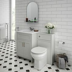 SHOP the Chatsworth White Marble Traditional Grey Vanity Unit + Toilet Package at Victorian Plumbing UK White Vanity Unit, Sink Vanity Unit, Gray Vanity, Combination Vanity Units, Concealed Cistern, Soft Closing Hinges, Bathroom Furniture, Bathroom Ideas, Bathroom Grey