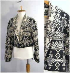 Southwest Jacket / Tribal jacket. Woven by sixcatsfunVINTAGE