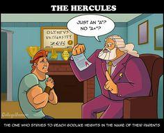 Hercules and zeus
