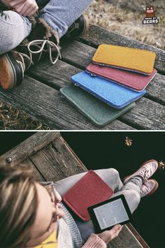 Soft Kinde case - Kindle sleeve - made of wool felt. For Kindle Paperwhite, Voyage ... #kindlecase #kindlesleeve #kindlepaperwhite #kindlevoyage #kindlecover Kindle Paperwhite Case, Kindle Case, Christmas Gifts For Parents, Gifts For Mom, Parent Gifts, Wool Felt, Snug Fit, Personalized Gifts, Cases
