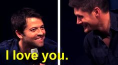 Just a friendly reminder that at JibCon 2013, Misha and Jensen answered a whopping TWO questions in 47 minutes.  THEY SPENT THE REST OF THE TIME FLIRTING.