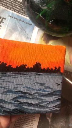 Cute Canvas Paintings, Easy Canvas Art, Canvas Painting Tutorials, Diy Painting, Art Painting Gallery, Art Corner, Art Tutorials, Art Drawings, Minion