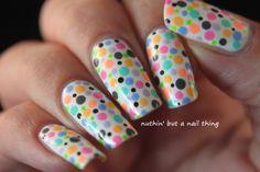 neon polka dot | Nuthin' but a Nail Thing