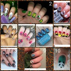 Vote for your 2 least favorites.  NO HATE   sorry @how.to.nail.it your design lost     @zuliadanes @nailartbyamalie @yeswenail @nail.art.paige @tips_by_trinidad @eves__nails @how.to.nail.it @polishedby.ella @nailacular @nailart_vide0s @nailsbycoli @juki_nails @shortnailsart @annanailartt @_howtonailart_ by sams_awesome_nails