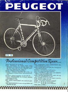 Catálogo Peugeot Cycles de 1970