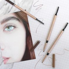 Put your best brow forward! Our Retractable Brow Pencils are dual-ended with an ultra-fine precision tip on one end for hairlike strokes and a blending spoolie on the other. Bold Brows, Instagram Feed, Instagram Posts, Clean Beauty, Makeup Trends, Smudging, Eyebrows, Minerals, Pencil