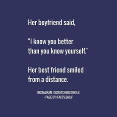 Blusshhh No one can know you better than your best frnd Besties Quotes, Best Friend Quotes, Cute Quotes, Funny Quotes, Love Triangle Quotes, Tiny Stories, Short Stories, Vanz, Best Friendship Quotes