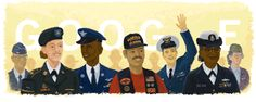 Today we honor our veterans. #GoogleDoodle