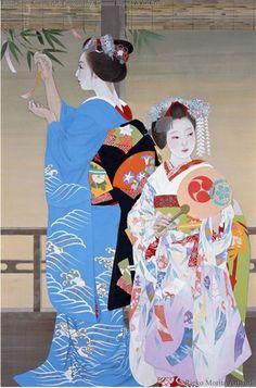 Maiko (Gion Festa) by Morita Rieko.