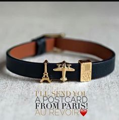 Postcards from Paris! Show your love for travel with this adorable bracelet! #Paris #travel #fashion #jewelry #giftideas #gift #KeepCollective