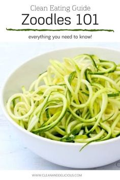 Find out everything you need to know about how to make and how to cook, zucchini noodles in this easy Zoodles 101. Zucchini noodles are great as they're a gluten-free, low carb, low calorie, nutrient dense alternative to pasta, and super simple to make! Check out the video to see how it's done! Healthy Summer Recipes, Healthy Low Carb Recipes, High Protein Recipes, Healthy Habits, Vegetarian Recipes, Healthy Life, Clean Eating Guide, Clean And Delicious, College Meals