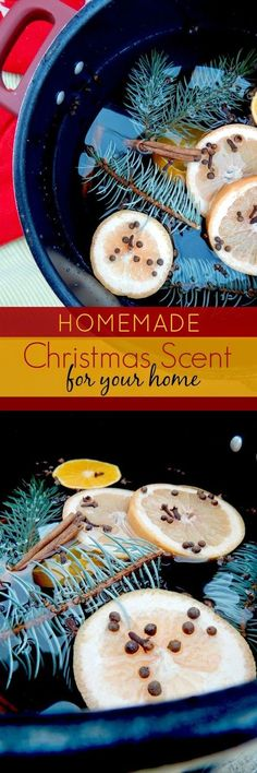 Homemade Christmas Scent for Your Home...put on a pot of this while wrapping presents, listening to music, putting up the tree or decorating cookies. It will put you and your house in the holiday spirit!