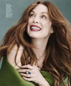 Julianne Moore for Town & Country December/January 2015/2016 - Dior Fall 2015 Haute Couture