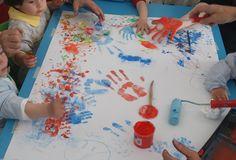 Taller de pintura para niños de 2 a 3 años.