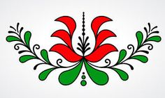 Hungarian Embroidery Patterns Traditional Hungarian floral motif with stylized leaves and. Hungarian Embroidery, Learn Embroidery, Crewel Embroidery, Embroidery Patterns, Stitch Head, Chain Stitch Embroidery, Pattern Images, Motif Floral, Embroidery Techniques