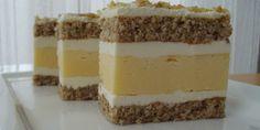 Kolač sa cheesecake-om i orasima — Coolinarika Cake Bars, Dessert Bars, Czech Recipes, Ethnic Recipes, Layered Desserts, Cake Shop, Fudge, Tiramisu, Cake Decorating