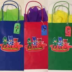 PJ Masks party bags 24