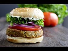 Falafel Burger For more recipes visit www.thebuddhistchef.com ingredients: 3/4 cup (140g) dried chickpeas (2 cups after soaking) 1 onion roughly chopped 3/4 ...