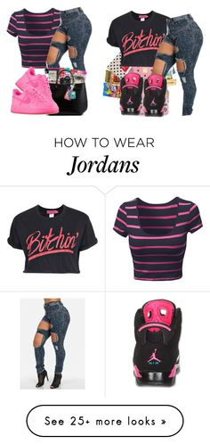 """"" by jjaylaspin on Polyvore featuring Boohoo, NIKE and Retrò"