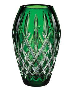 Waterford Crystal Giftware, Araglin Prestige Emerald Green Vase