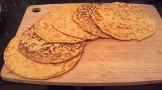 Tortillas - 1 cup coconut flour 4 Tbsp. psyllium husk powder 1/2 cup butter or coconut oil softened 1/4 tsp garlic granules (or powder) 1/4 tsp cumin 1/2 tsp red chili powder 2 cups hot broth or hot water